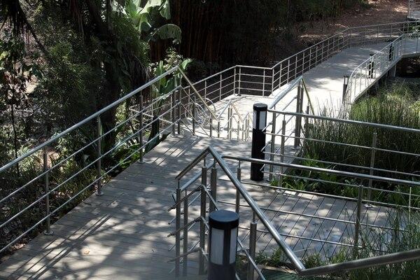 Actualmente se encuentra habilitado un solo sendero de 400 metros al que se ingresa por las instalaciones del Banco Central en barrio Amón. Foto Alonso Tenorio