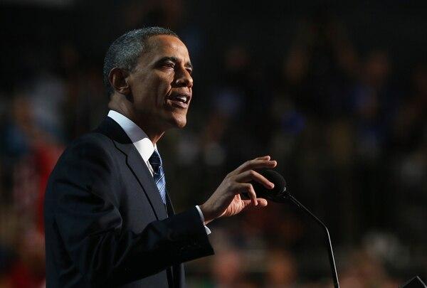 El presidente estadounidense, Barack Obama, brindó declaraciones este jueves durante un evento en el Minnehaha Park de Minneapolis, Estados Unidos.