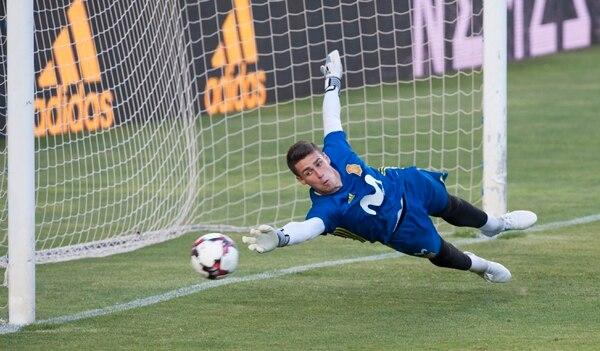 Kepa en un entrenamiento de la selección de España en junio del 2016. Foto: Juan Flor.