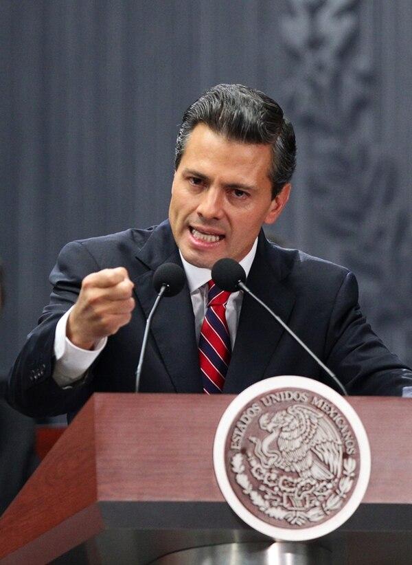 Peña Nieto, el domingo al presentar otro plan: la reforma fiscal. | EFE.