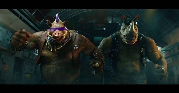 Conozca a Bebop y Rocksteady, dos de villanos de la nueva película. Romaly para LN