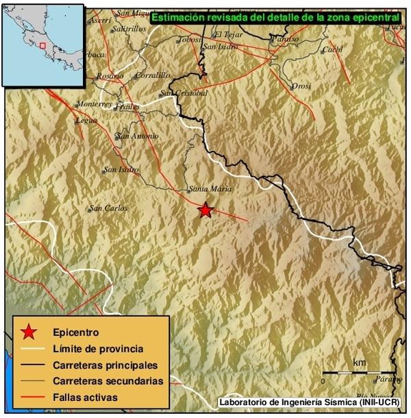 Dos sismos leves sucedieron hoy en Paraíso y Dota - 1