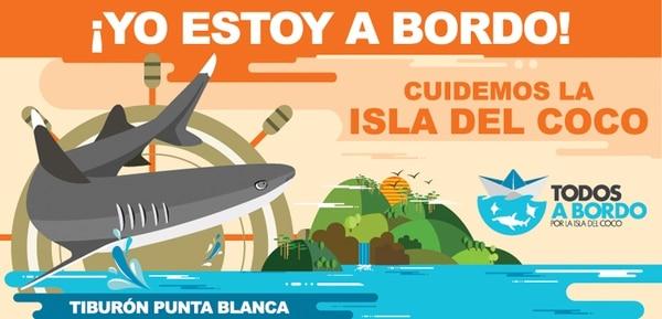La rica biodiversidad de la Isla del Coco y su importancia ecológica hizo que fuera declarada como Sitio de Patrimonio Mundial de la Humanidad por Unesco en 1997. Los cinco diseños de las calcamonías pretenden mostrar una especie representativa de esa biodiversidad como lo son los tiburones punta blanca, martillo y ballena así como las manta raya y los delfines. | CORTESÍA DE FAICO