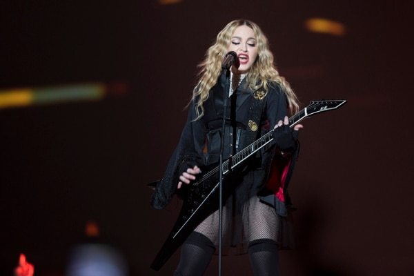 Madonna performs in concert during her