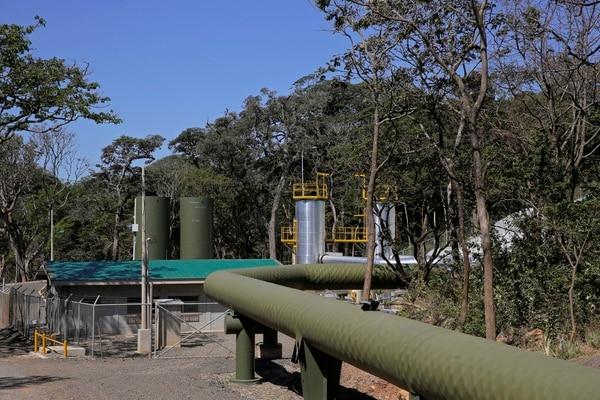 El proyecto Geotérmico Pailas II se localiza en Curubandé de Liberia (Guanacaste). Tiene 55 Megavatios de capacidad instalada provistos por 21 pozos perforados. Foto: Mayela López