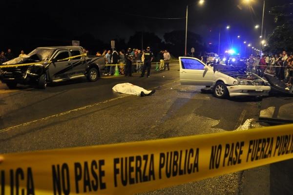 El choque fue en la entrada a Pérez Zeledón.