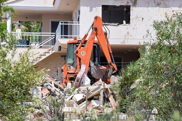 La casa en Alcanar donde la policía sospecha, se encontraban los terroristas preparando explosivos.