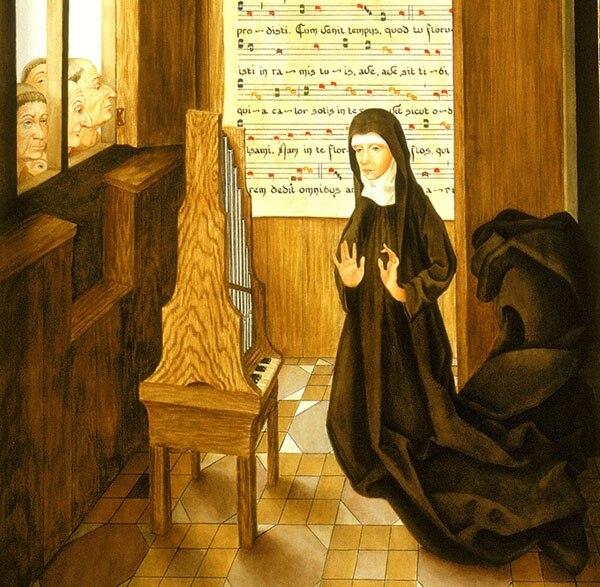 Una grande. Retrato medieval de Hildegard von Bingen.
