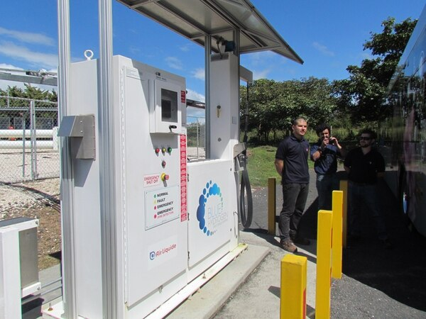 La empresa Ad Astra Rocket cuenta con la infraestructura para producir hidrógeno, almacenarlo y recargar los vehículos eléctricos que cuentan con esta tecnología. Esta infraestructura está presente en sus instalaciones en Liberia, Guanacaste. Foto Rebeca Alvarez