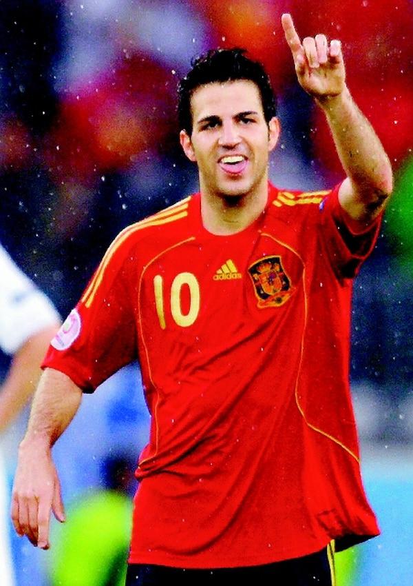 El volante Cesc Fabregas marcó el segundo gol para España ante Haití. | ARCHIVO