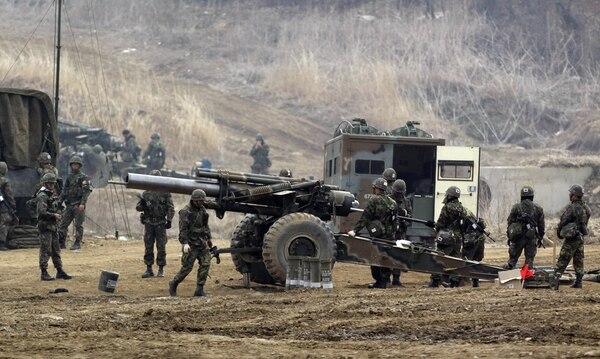 Los infantes de marina de Corea del Sur regresarían de guardia ante el reciente anuncio de Corea del Norte, como ocurrió en mayo del 2009 en la isla Yeonpyeng. Archivo AFP