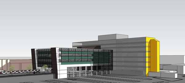 Este es un diseño preliminar de la futura torre con 21 quirófanos que la CCSS está en proceso de construir para el Hospital México. La obra no estará lista antes del 2020, de ahí la necesidad de recurrir a medidas temporales como el alquiler de salas en centros privados. Foto: CCSS