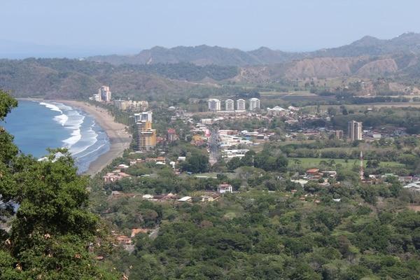 Vista de la ciudad de Jacó.
