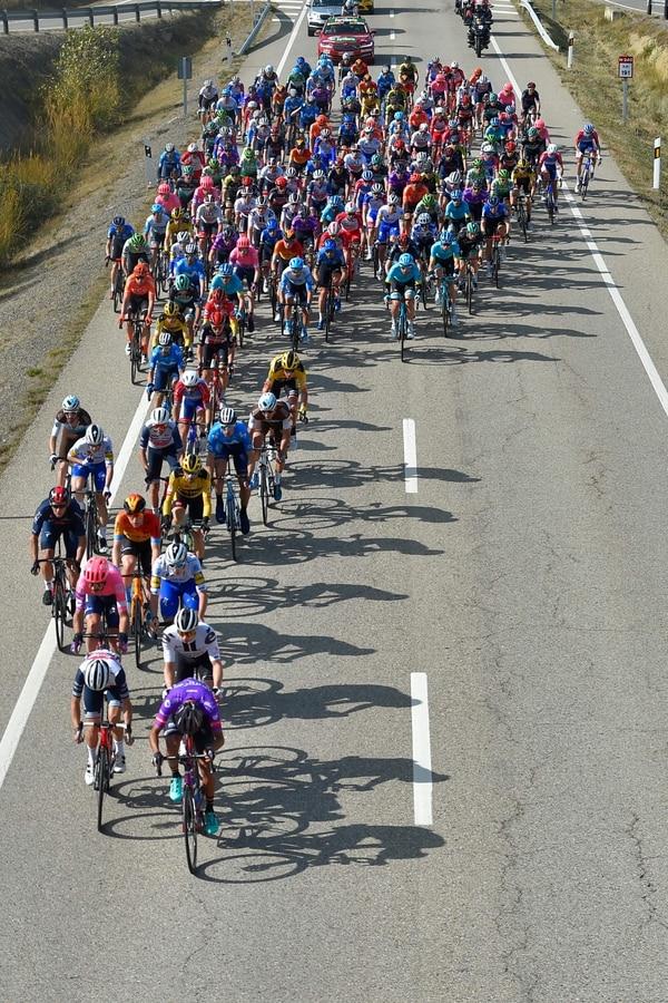 El ciclista costarricense Andrey Amador marcha en la posición 57 de la clasificación general. Fotografía: AFP