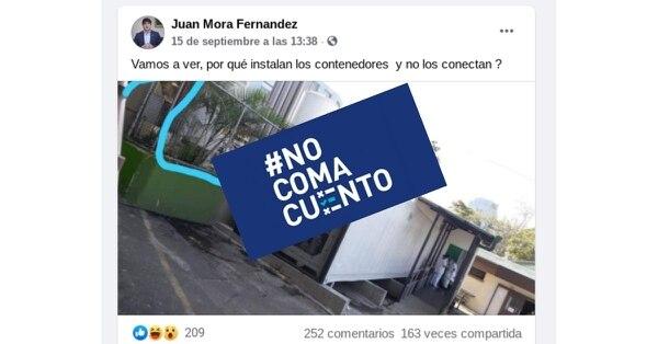El jefe de ingenieros del Hospital San Juan de Dios afirmó que algunas personas tienen la idea errónea de que los furgones no está conectados porque a simple vista no se observan un montón de cables.