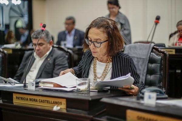18/01/2018, San José, Asamblea Legislativa, sesión del plenario para votar acerca del caso del Cementazo. En la fotografía Patricia Mora PFA. Fotografía José Cordero