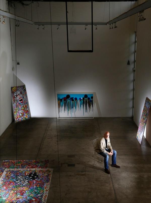 Imagen reciente de la galería de Klaus Steinmetz, en San Rafael de Escazú, cerrada este mes. Foto: Albert Marín.