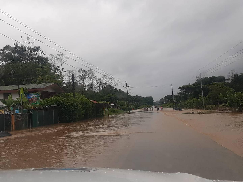 Otra vez el Caribe sur volvió a presentar inundaciones, pero no tan fuertes como las del reciente temporal. Foto: CNE.