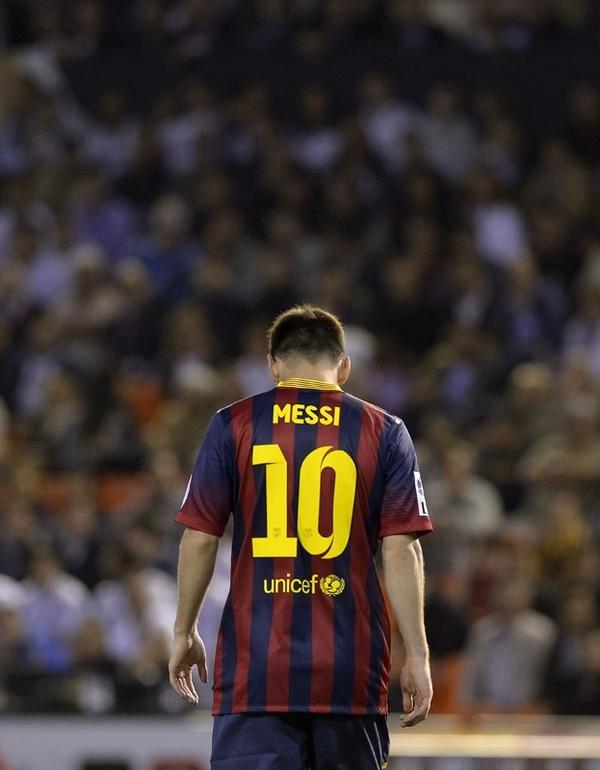 El argentino Lionel Messi fue una figura ausente en el Barcelona que ayer perdió la Copa del Rey. | AFP