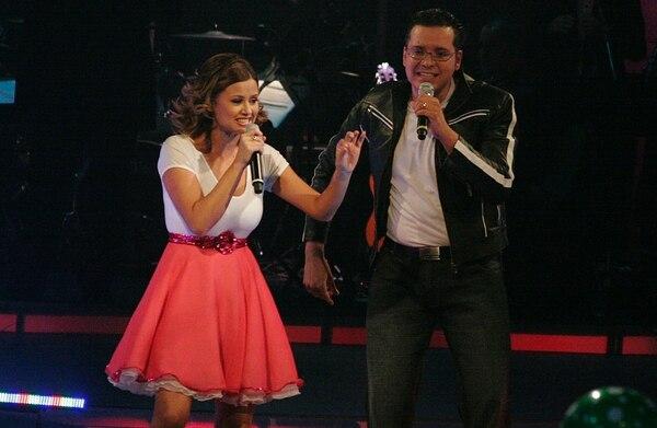 Navarro participó con la locutora Hanzel Carballo en el