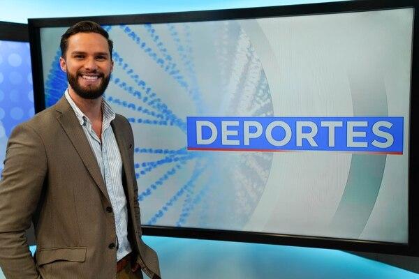 Jorge Vindas regresa a la televisión tradicional: debutó el lunes en el mundo deportivo. Foto: Deportes Repretel para LN