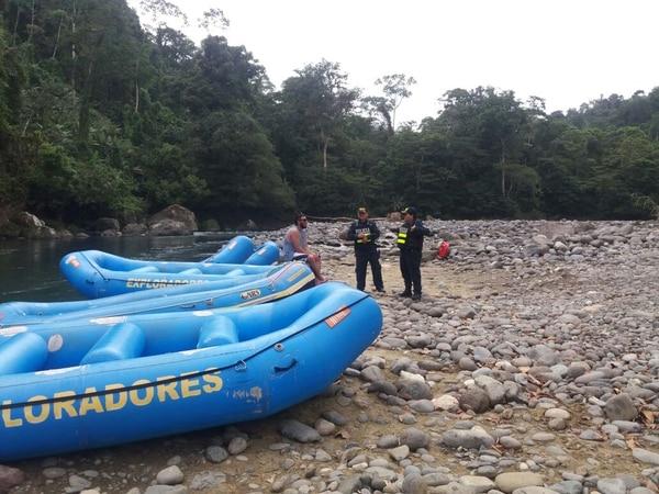 La Fuerza Pública empezó el domingo con patrullajes que se fortalecerán en coordinación con los operadores de turismo para evitar la acción de hampones armados que se internan en las montañas para emboscar a los turistas a la orilla de ríos. Foto: MSP