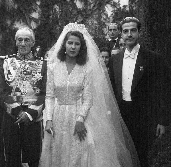 El 12 de octubre de 1947, Cayetana Fitz-James Stuart se casó con su esposo Luis Martínez de Irujo. Fotografía: Wikicommons para La Nación