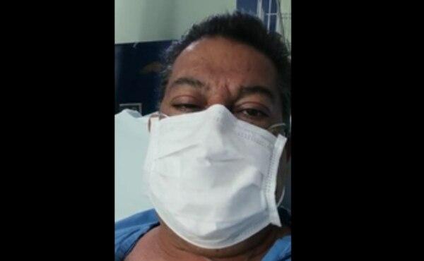 El pasado 5 de mayo, trascendió un video en el que el alcalde de Tibás confirmaba que le faltaba el aire. Captura de video.