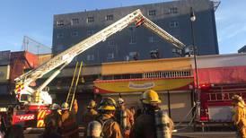 Fuego afectó panadería Samuelito en avenida segunda