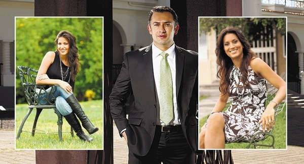 María Teresa Rodríguez, Cristian Rivera y Catalina Mendieta.