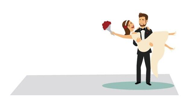 En el Tribunal Supremo de Elecciones se registraron 12.347 bodas civiles y católicas realizadas en el país. Ilustración: Kimberly Zamora.