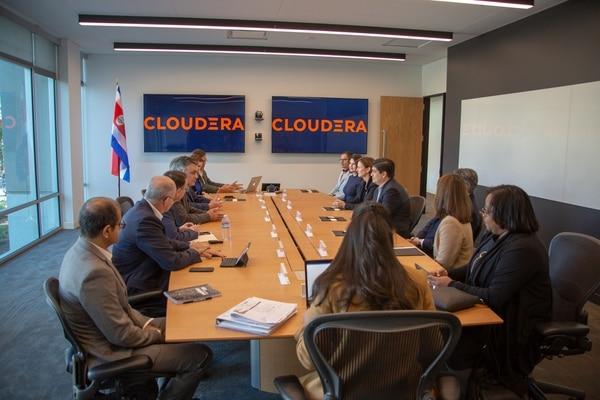 Este miércoles 13 de marzo el presidente de la República Carlos Alvarado se reunión con representantes de la firma Cloudera, en Palo Alto, California.