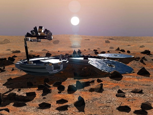 Imagen del 2002 del Beagle 2 suministrada por la Agencia Espacial Europea.