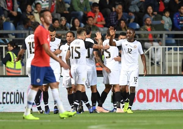 Jonathan McDonald jugó 75 minutos en el triunfo de la Selección contra Chile en Rancagua. Fotografía: Martín Bernetti / AFP