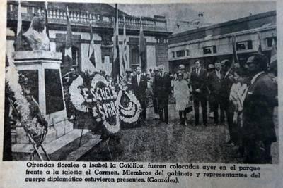 Costa Rica rendía homenaje a Isabel la Católica en Día de la Raza