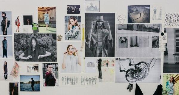Inspiraciones. La exposición en La ERRE se compone de imágenes de trabajo, fotos y bocetos. Andrés Asturias para La Nación.
