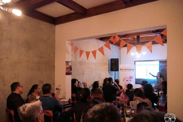 En 2018, se celebró la primera edición de Pint of Science en Costa Rica. Foto: Pint of Science para LN.