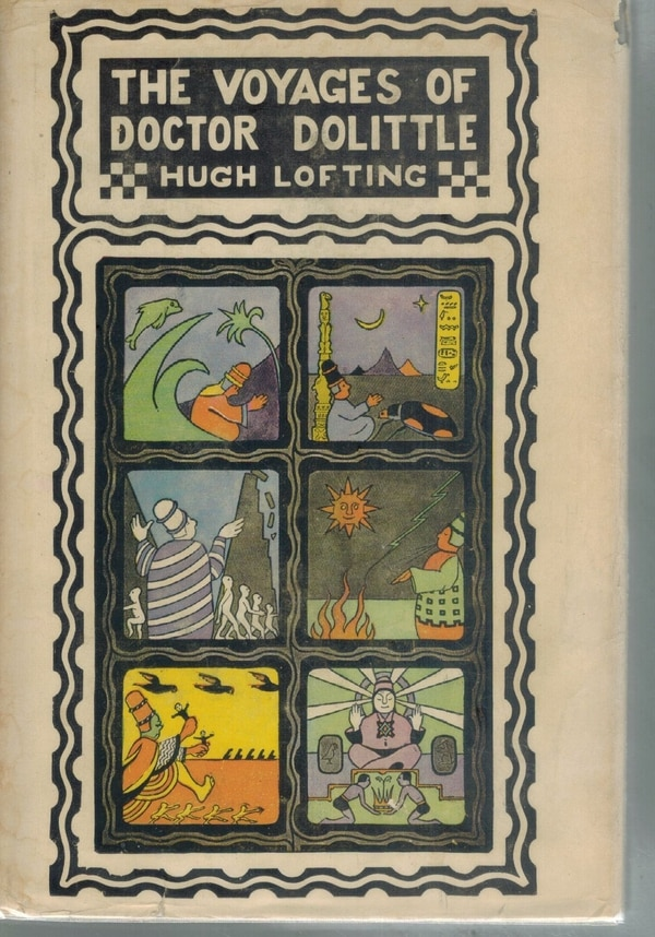 Portada del libro 'The Voyages of Doctor Dolittle' (1922), libro de Hugh Lofting en que se basa la nueva película. Archivo