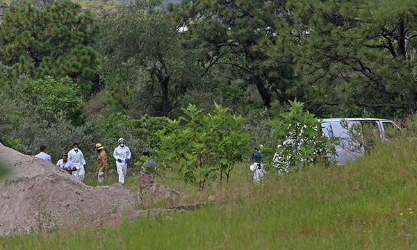 Según datos oficiales al 14 de agosto del 2019, más de 3.000 fosas clandestinas con casi 5.000 cuerpos han sido descubiertas en el país desde 2006. Foto tomada de Twitter