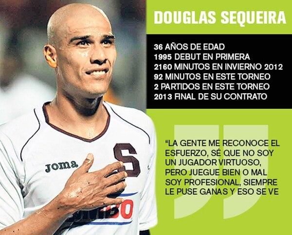 Douglas Sequeira vive sus últimos minutos con Saprissa sin saber si jugará más o no, pero tranquilo porque el fútbol ya le dio todo lo que quería en la vida