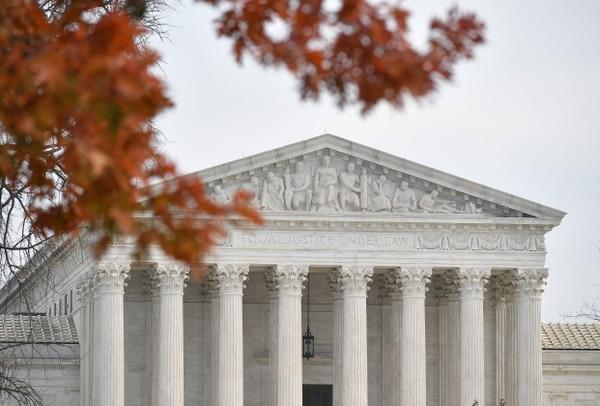 En esta foto de archivo tomada el 10 de diciembre del 2018, se muestra la Corte Suprema de Estados Unidos, en Washington. Foto: AFP