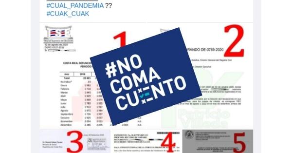 La publicación del portal Patricio Villeda utiliza fuera de contexto documentos de instituciones como el Tribunal Supremo de Elecciones y la CCSS para fundamentar afirmaciones falsas sobre la supuesta inexistencia de la pandemia.