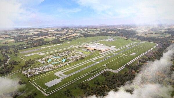 El aeropuerto de Orotina requeriría 128.000 metros cuadrados. Foto: Cortesía Casa presidencial