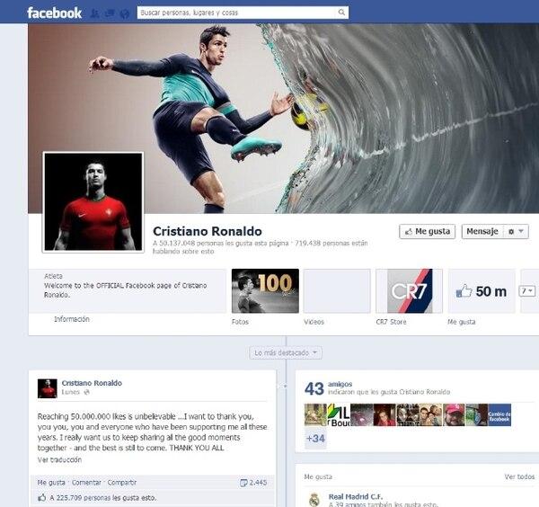 Cristiano Ronaldo es el más popular en Facebook - 1