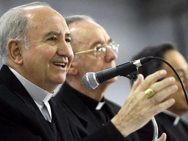 El cardenal chileno Francisco Javier Errázuriz en una conferencia de obispos de Latinoamérica y el Caribe en Aparecida, Brasil, el 30 de mayo del 2017.