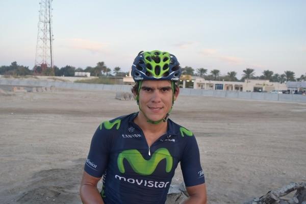 Andrey Amador comenzó a ganar kilómetros en el Tour de Catar.