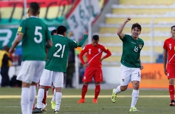 Ronald Radez celebró a lo grande su gol ante Perú.