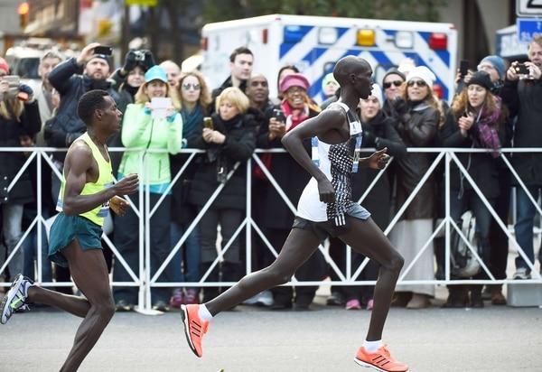 El keniano Wilson Kipsang se impuso este domingo en el maratón de Nueva York