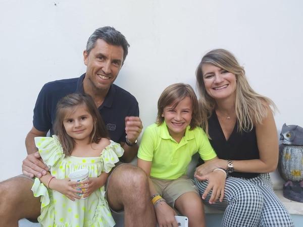 Juan Antonio Marín tiene 44 años y vive en Murcia, España, junto a su esposa Elena y sus dos hijos, Blanca y Gonzalo. Actualmente se desempeña como director del Murcia Club de Tenis. Foto: Cortesía Juan Antonio Marín.