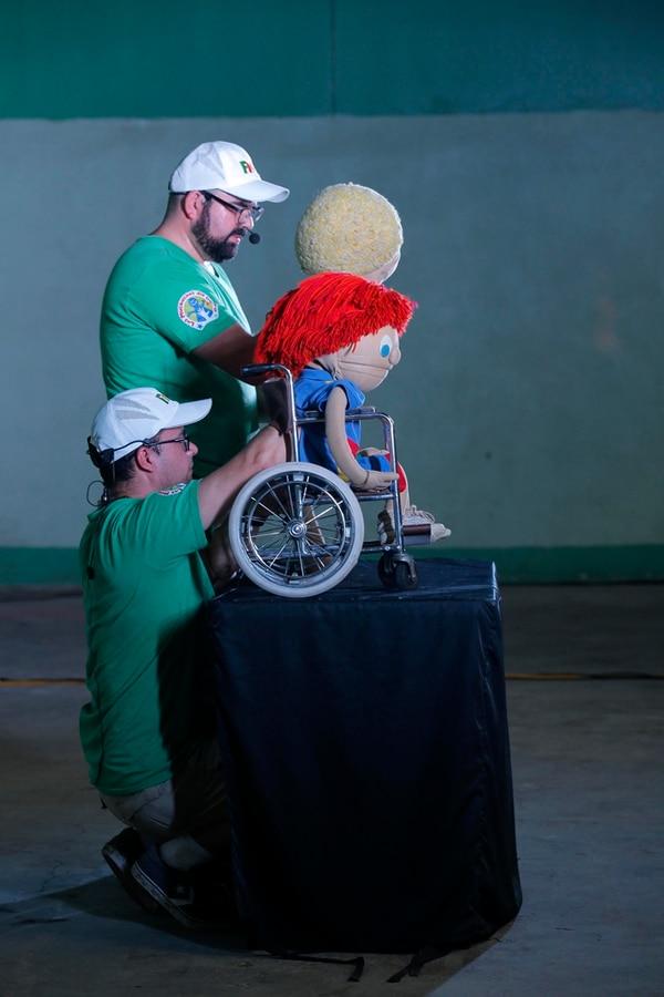 Los Muchachos del Barrio mostraron la obra 'Discapacidad'. / Fotografía: Mayela López.